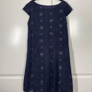 Italian 100% Linen Lagenlook Pocket Dress size L
